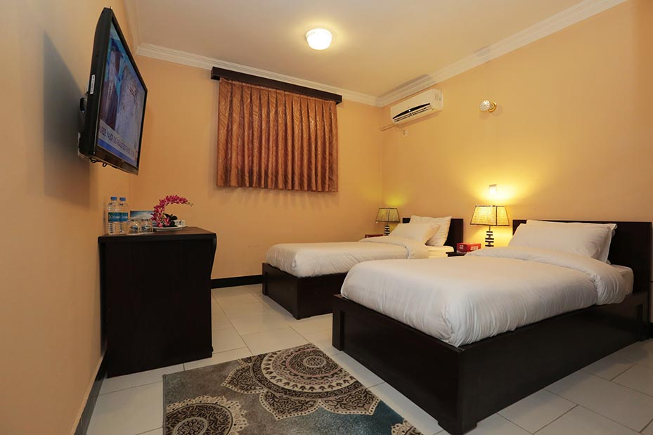 Twin Room facility Daryavillage Hotel and Business Park