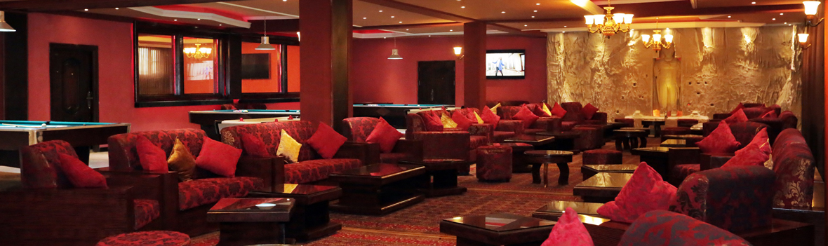 Unique Lounge Seating at Kabul Buddha Bar